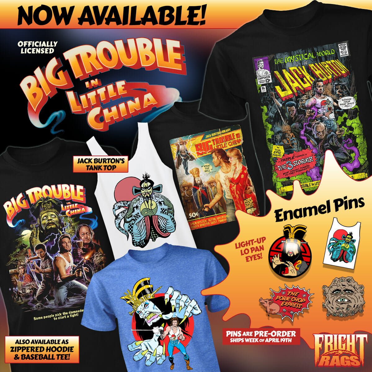 Big Trouble in Little China T-Shirts Now Available from