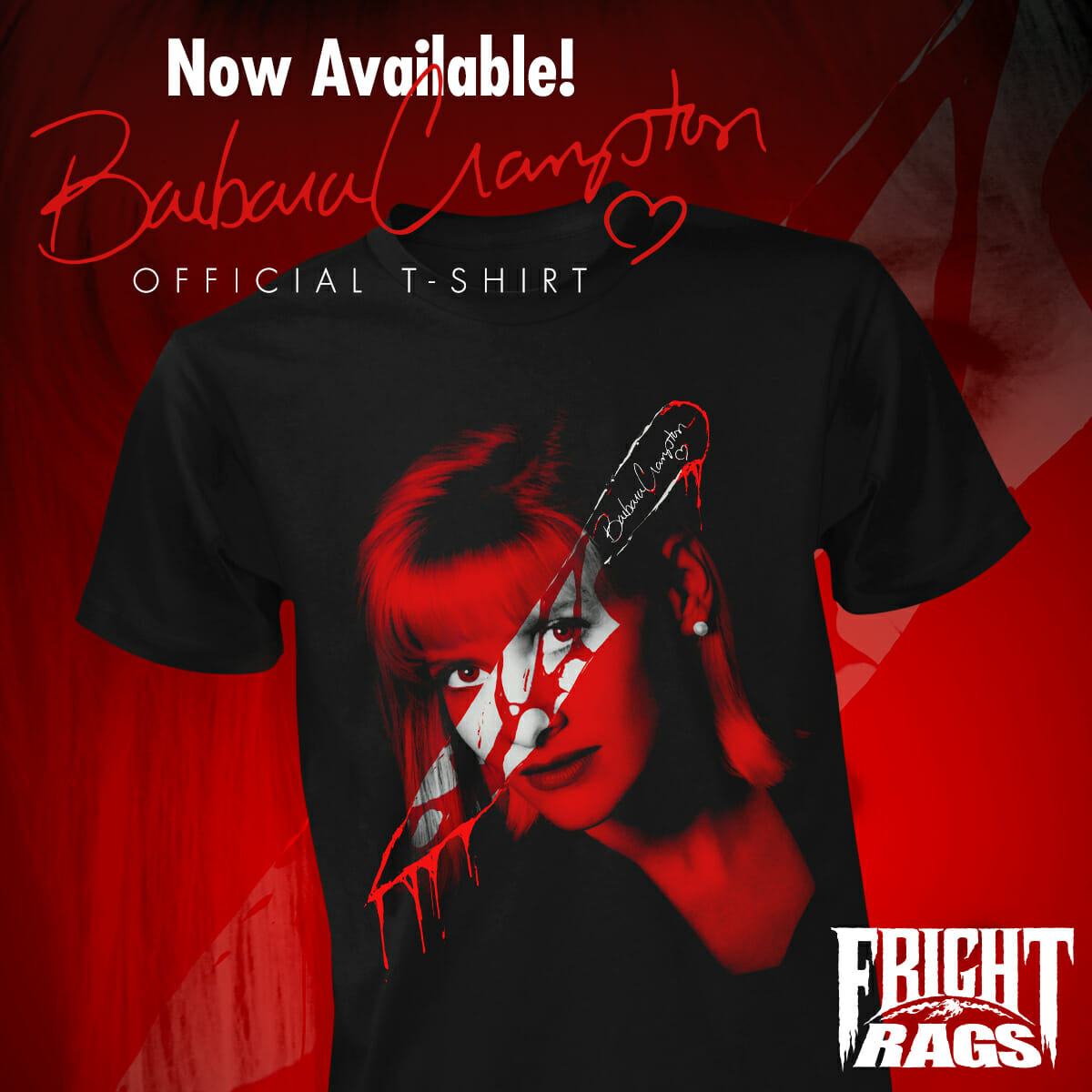 Official Barbara Crampton T-Shirt (plus more) only at Fright